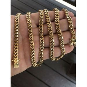 Harlembling 14k Gold Stainless Steel Link Chain